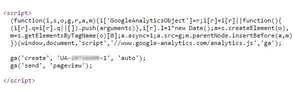code universal analytics
