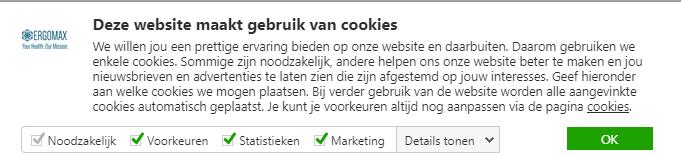 cookiebot cookiemelding
