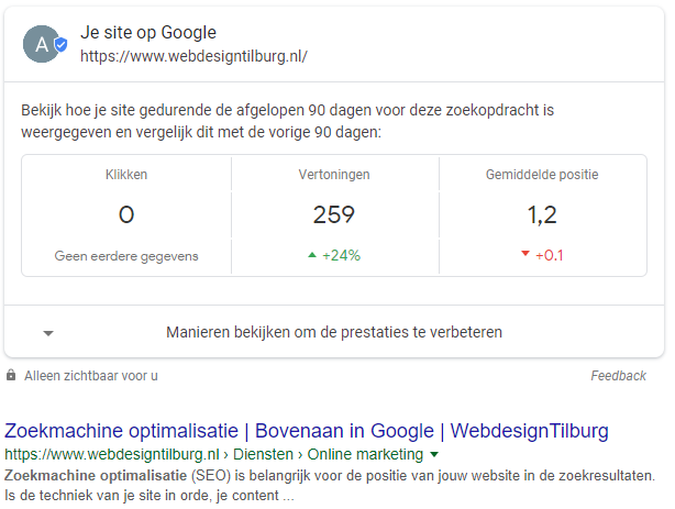 seo informatie search console