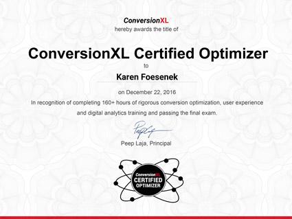 ConversionXL Certified Optimizer